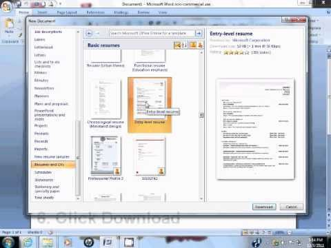 Download How To Make A Resume On Word 2007 | haadyaooverbayresort.com