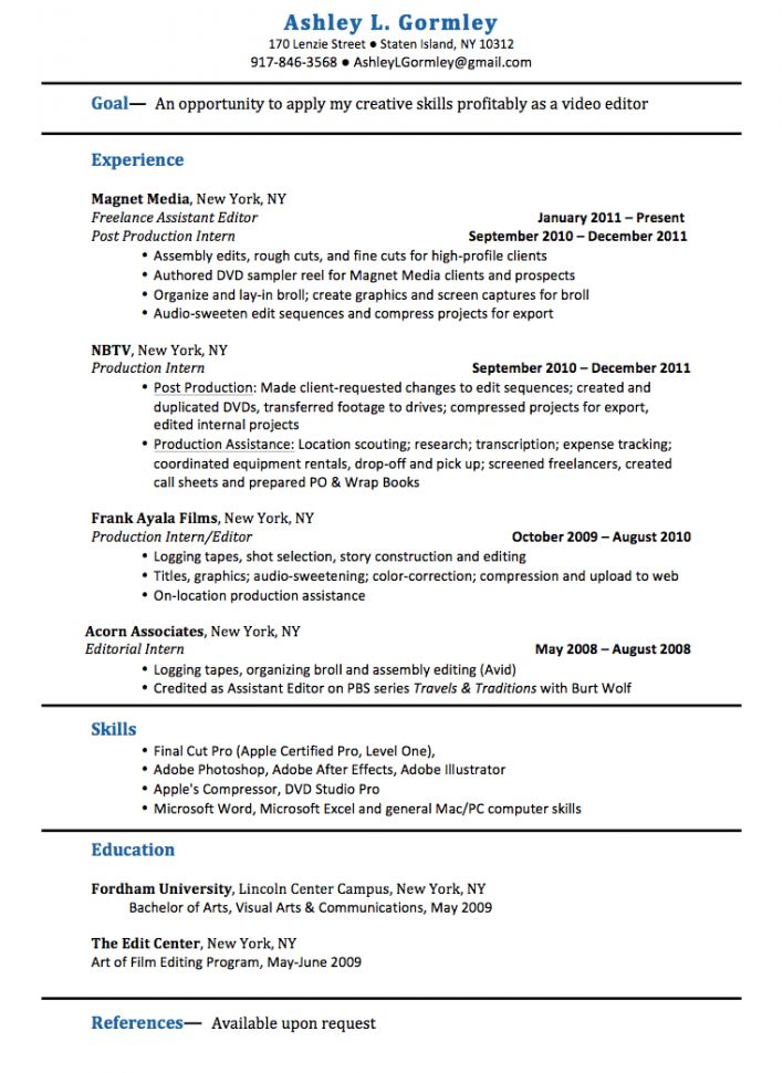 Editing Experience Resume Editor Resume Sample Resume Sample ...