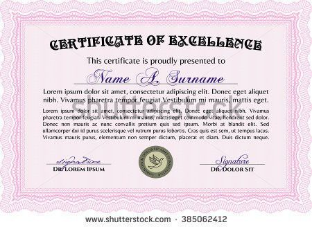 Sample Diploma Frame Certificate Template Vector Stock Vector ...