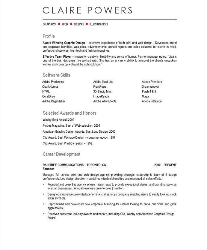 Web Graphic Designer Resume Samples & Examples
