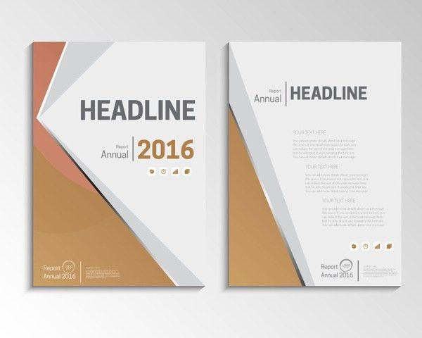 Annual report cover design free vector download (5,231 Free vector ...