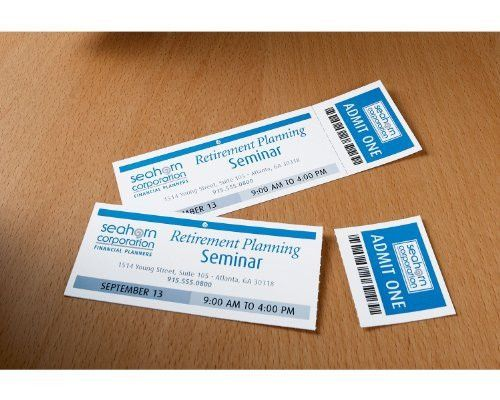 Avery Tickets with Tear-Away Stubs, 1.75 inches x 5.5 inches ...