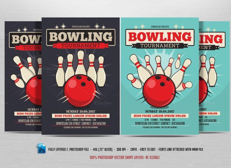 Bowling Invitation. Bowling Birthday Invitation Bowling By ...