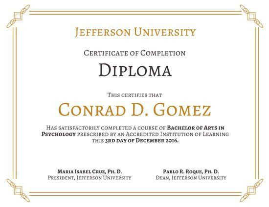 Diploma Certificate Templates - Canva