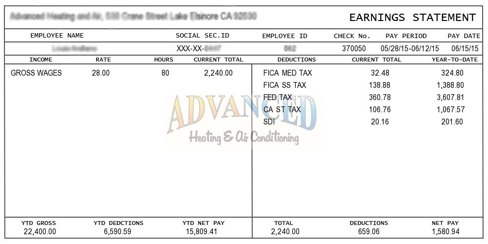 Sample Pay Stub, Instant Online Pay Stubs | Pay Stubs
