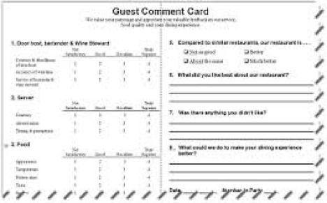 Guest Card Template Free Church Guest Card Template Churchmag - Comment card template