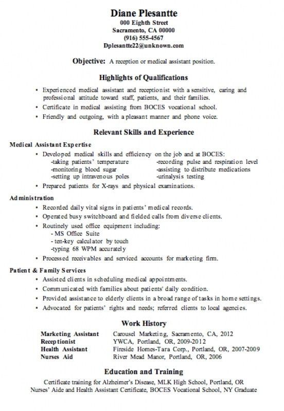Medical Secretary Resume – Resume Examples