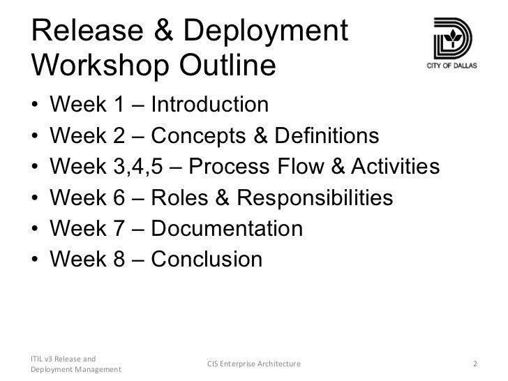Itil v3 release and deployment management