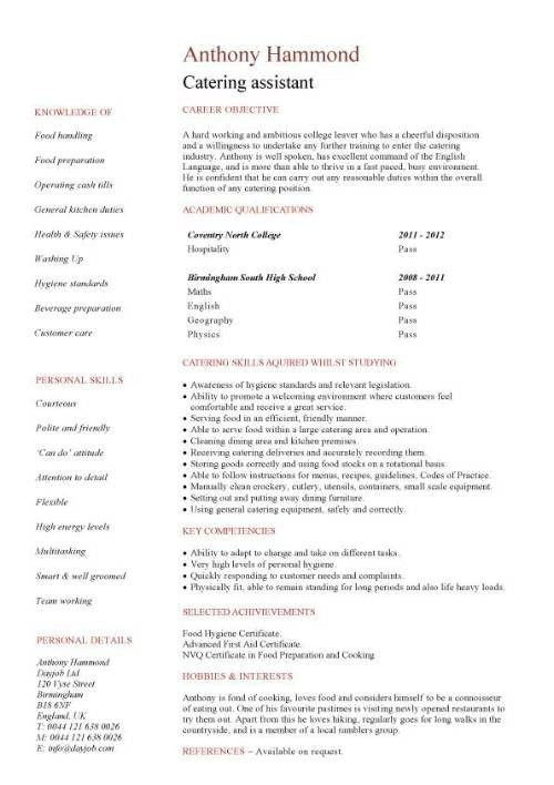 Sample Of Resume For High School Student With No Experience No ...