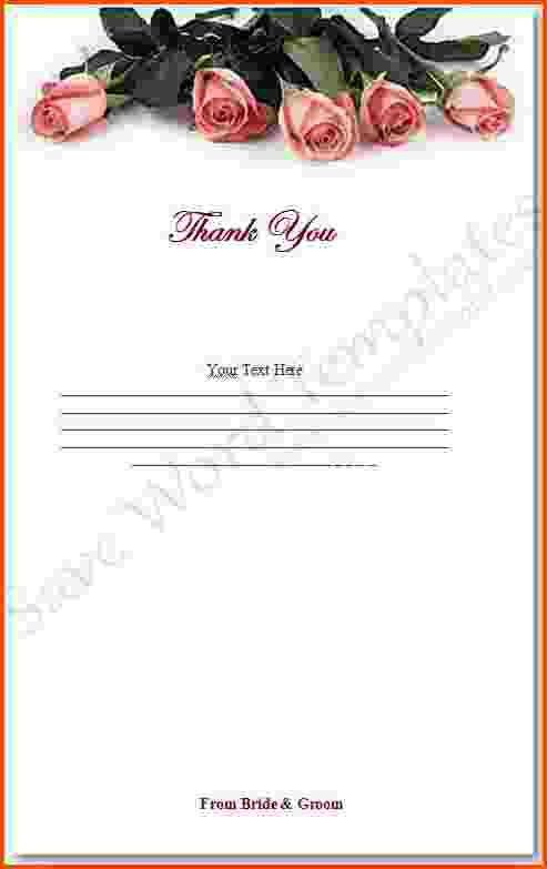 5+ thank you note template word | Survey Template Words