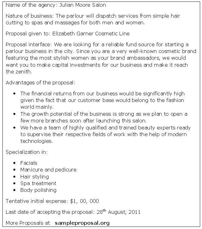 Capital Funding Proposal | Sample Proposals