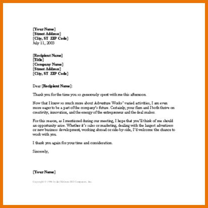 Microsoft Word Letter Template.Job Interview Thank You Letter ...