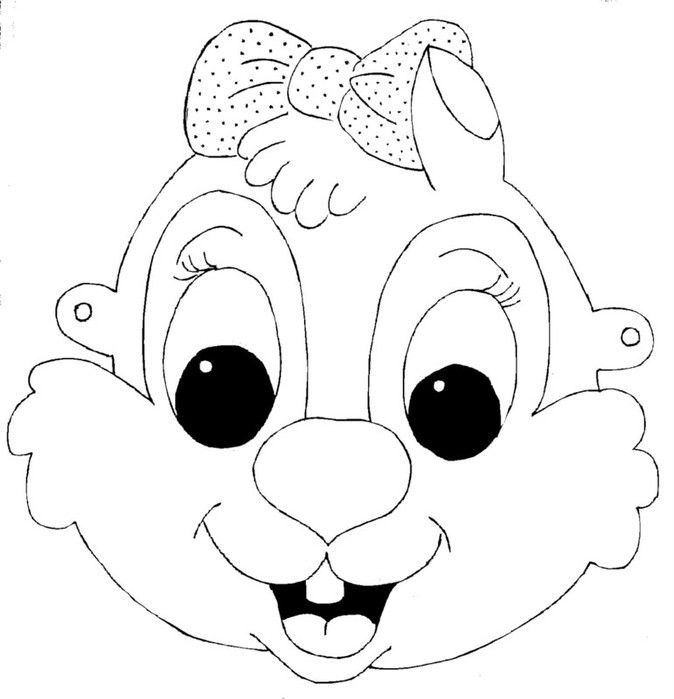 kids-face-masks-template-for-coloring-squirrel-girl - | Masks and ...