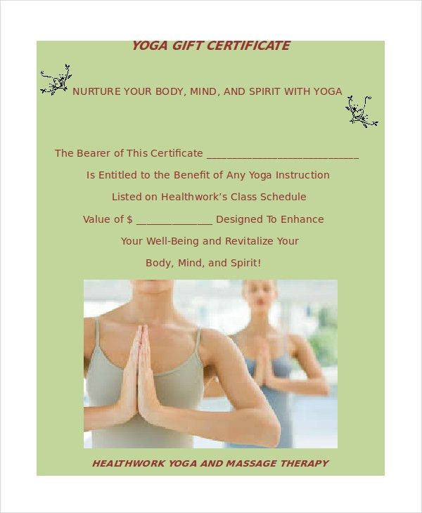 Yoga Certificate Template - 9+ Free Word, PDF PSD Format Downloads ...