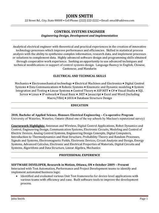 download avionics system engineer sample resume - Avionics Technician Resume