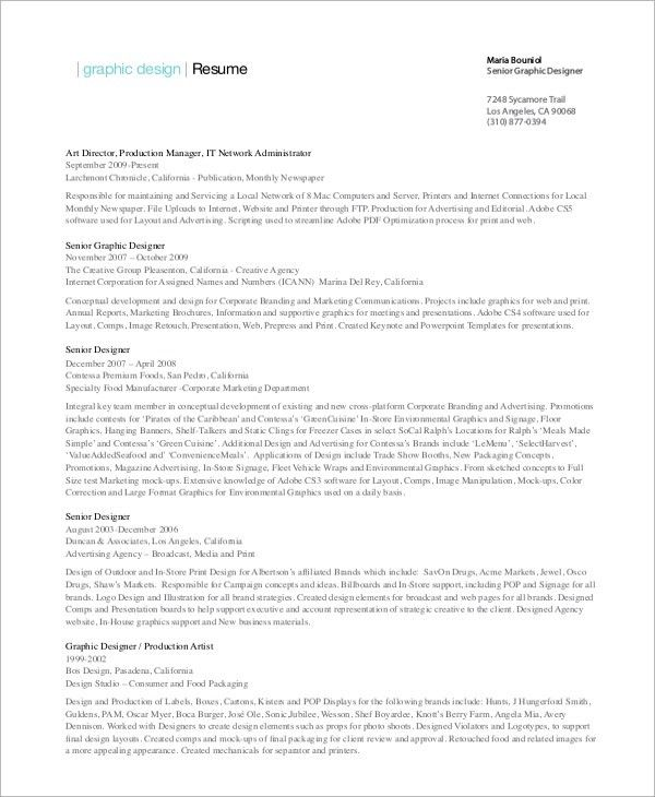graphic design resume samples pdf financial system manager sample ...