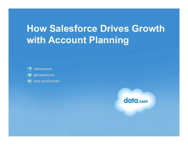 How Salesforce Drives Growth with Account Planning