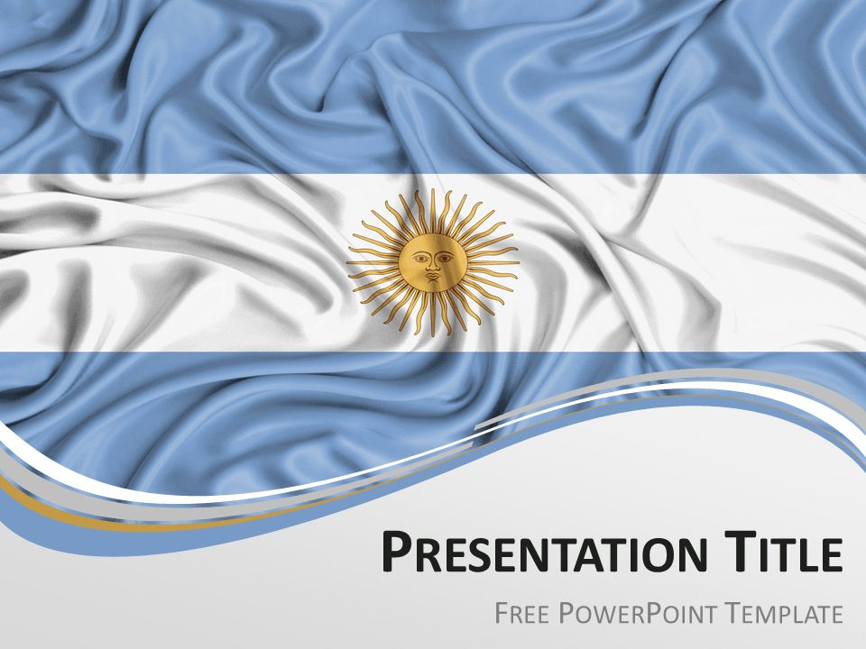 Argentina Flag PowerPoint Template - PresentationGO.com