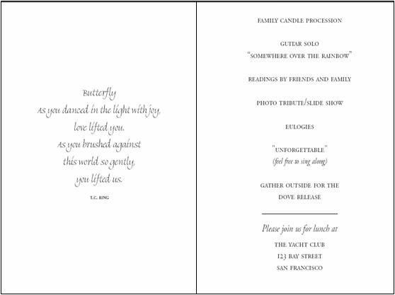 Life Celebration Memorial Folders | Printable Funeral Programs