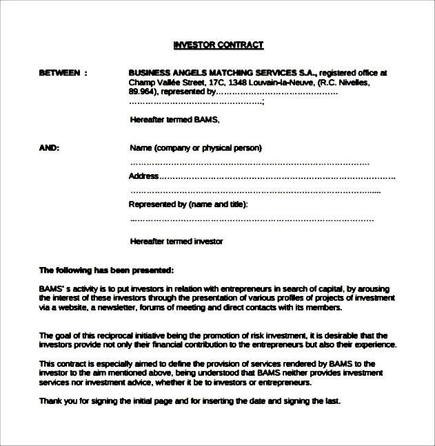 Investors Contract Agreement, best 25+ non disclosure agreement ...