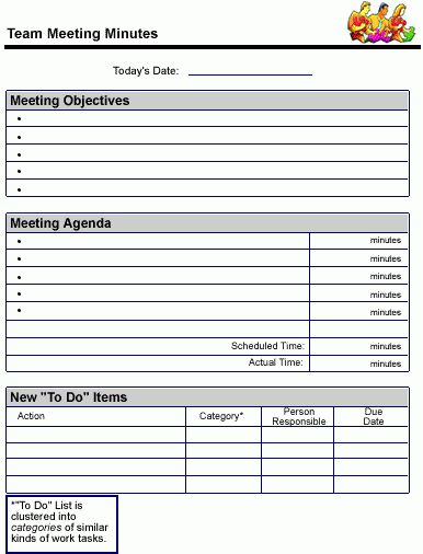 Meeting Notes Template - Google Search | 6th Project Based ...