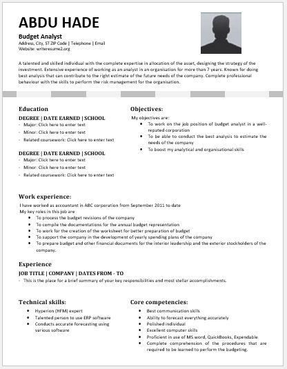 Wonderful Budget Analyst Resume Contents, Layouts U0026 Templates | Resume Templates  Budget Analyst Resume