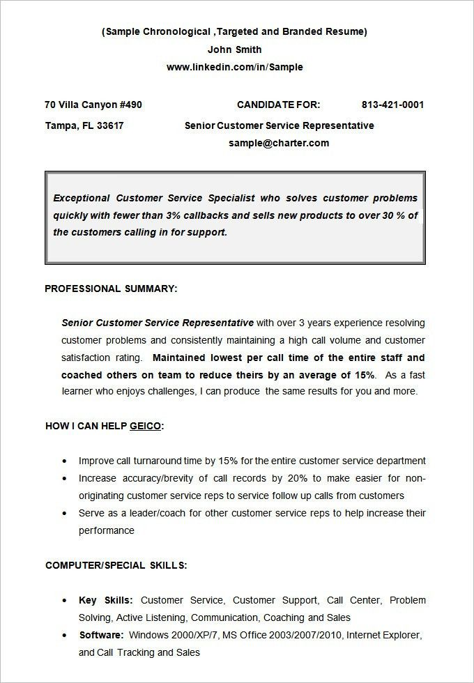 Download Chronological Resume Format | haadyaooverbayresort.com