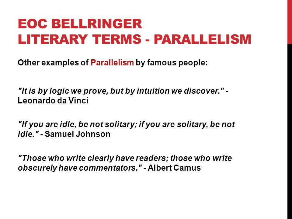EOC BELLRINGER LITERARY TERMS Which literary term is being shown ...