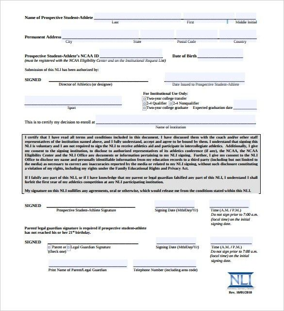 National Letter of Intent – 10+ Free Word, PDF Format Download ...
