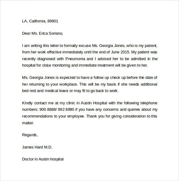 Formal Sick Leave Letter. Sick Leave Request Sample Resume Cover ...