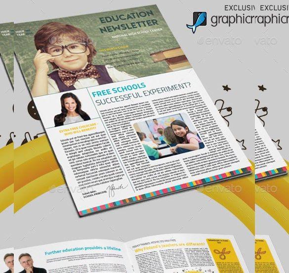 Teacher Newsletter Template – 8+ PSD, PDF Formats Download | Free ...