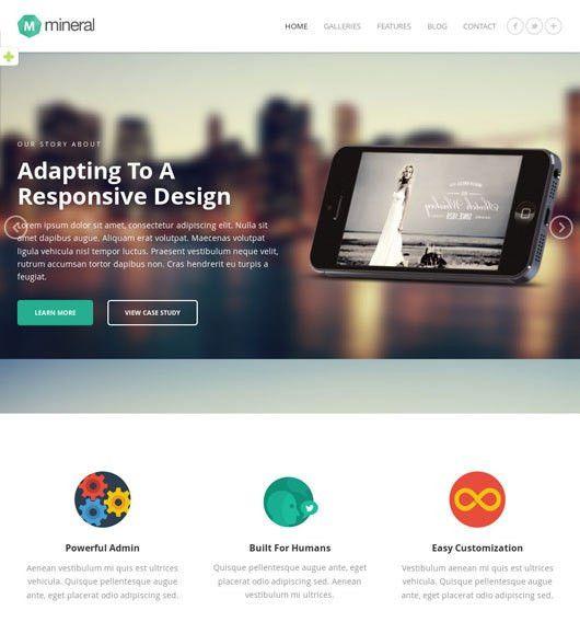 15 Best Flat Responsive Portfolio Website Templates | OmahPSD