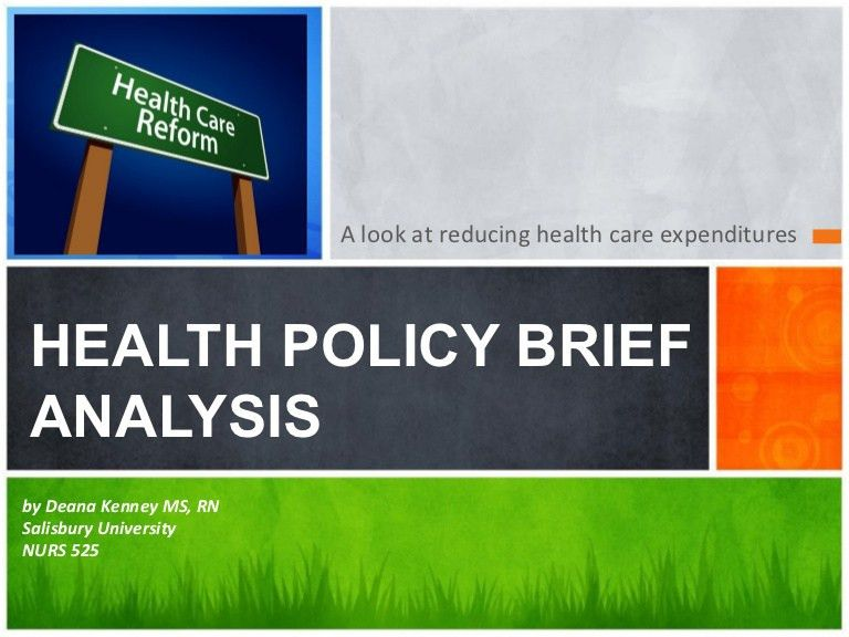 Health policy brief powerpoint final 2013