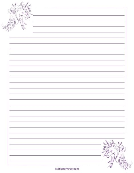 Lined Stationary Paper Free Printable Stationery Templates Deco – Lined Letter Writing Paper