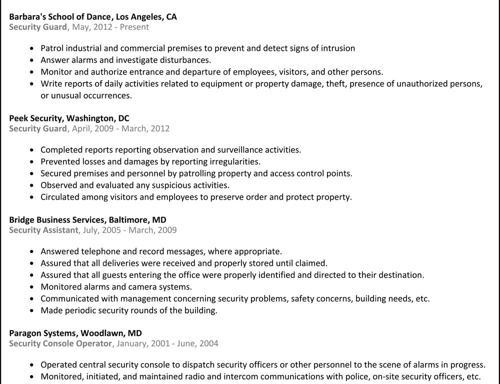 clever security guard resume sample 12 security guard resume - Security Guard Resume Sample