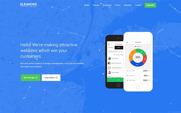 Eleanore - Flexible App Landing Page | Bootstrap Landing Pages ...