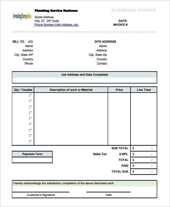 Invoice Template - 41+ Free Word, Excel, PDF, PSD Format Download ...