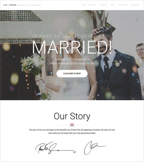 39+ Wedding Website Themes & Templates | Free & Premium Templates