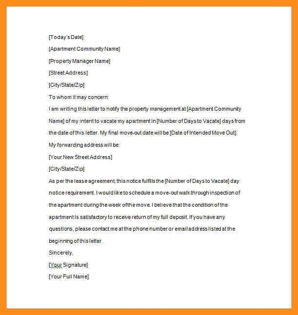6+ landlord notice letter | resume setups