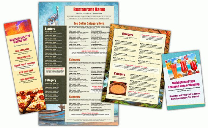 The Menu Maker Restaurant Menu Design and Menu Templates