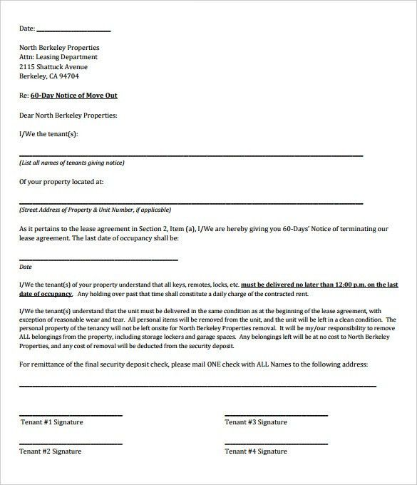 9+ Rental Termination Letter Templates - Free Sample, Example ...