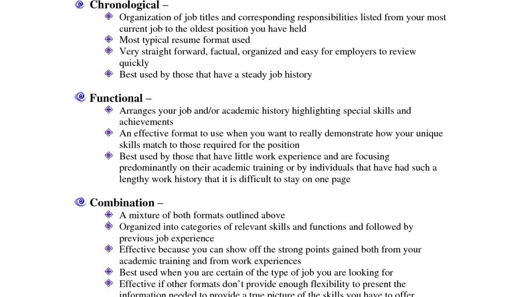 resume writing 3 types of formats linking michiana. photo ...