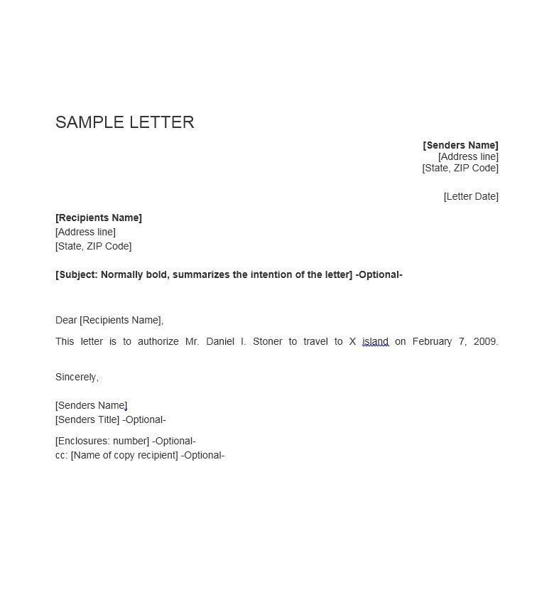 46 Authorization Letter Samples & Templates - Template Lab