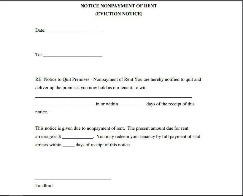 10 Eviction Notice Template Examples   Templates Assistant