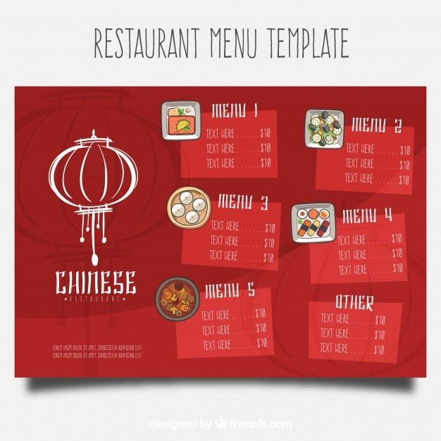 Chinese restaurant menu template Vector | Free Download