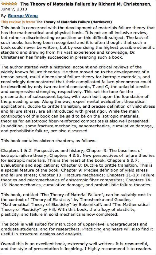 Publication of New Book on Failure - FailureCriteria.com