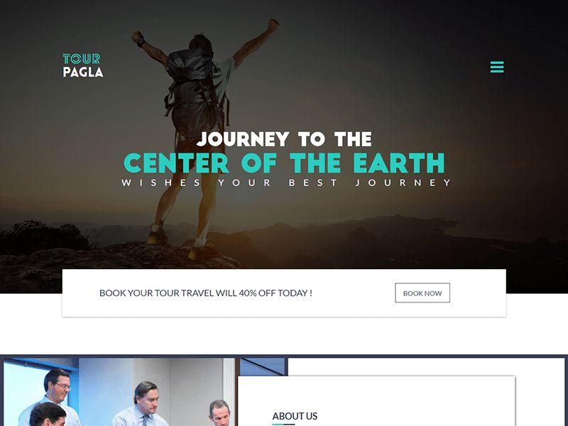 Tour Pagla – Travel Bootstrap Landing Page Template - Free Themes ...