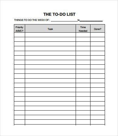 To Do Checklist Templates - 9+ Free PDF Documents Download | Free ...