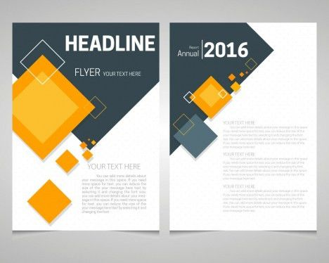 Annual report flyer free vectors stock for free download about (16 ...