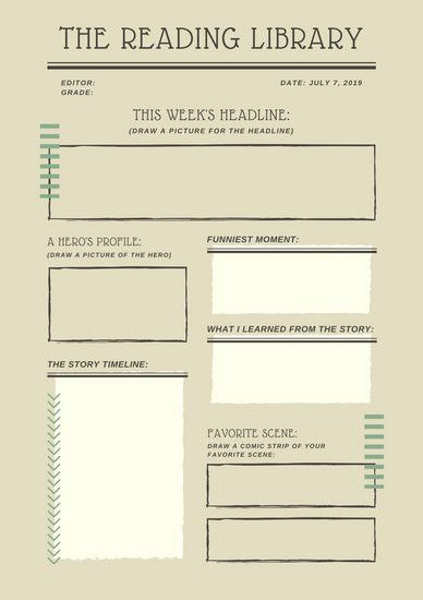 Brown Simple Newspaper Book Report - Templates by Canva